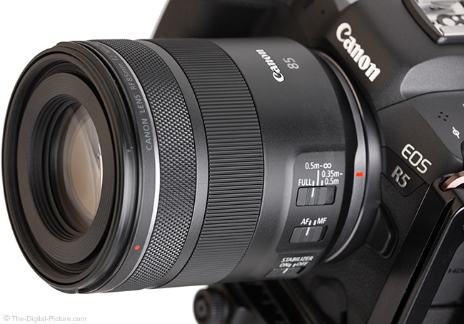 Canon RF 85mm F2 Macro IS STM Lens In Stock 11/20 at Amazon
