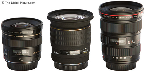 Canon and Sigma 20mm Lens Comparison
