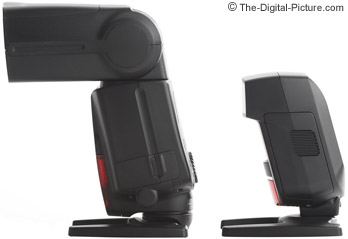 Canon Speedlite 220EX II compared to the 580EX II - Side View
