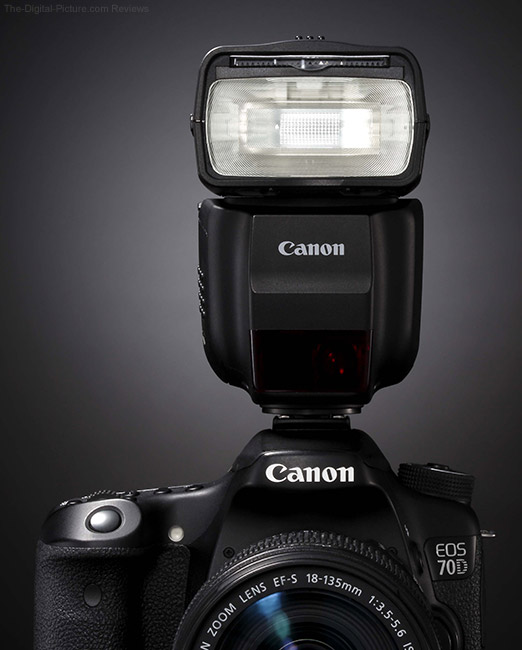 Canon Speedlite 430EX III-RT On Camera