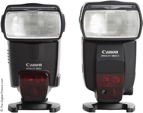 Canon Speedlite 580EX II Flash Comparison - Front View
