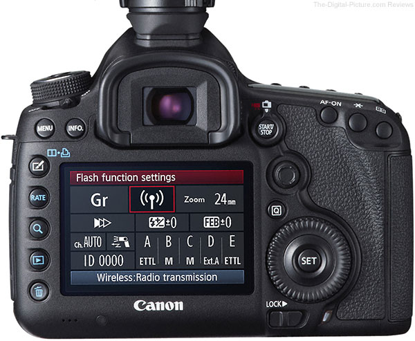 Flash Quick Control Screen on Canon EOS 5D Mark III