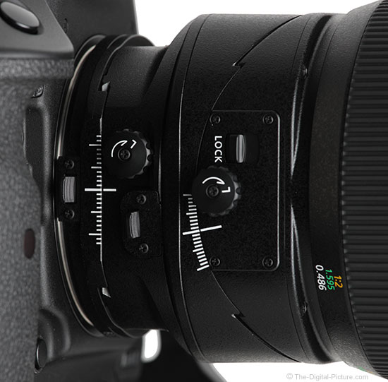 Canon TS-E 135mm f/4L Tilt-Shift Macro Lens Switches