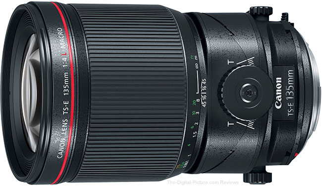 Canon TS-E 135mm f/4L Tilt-Shift Macro Lens Angle View