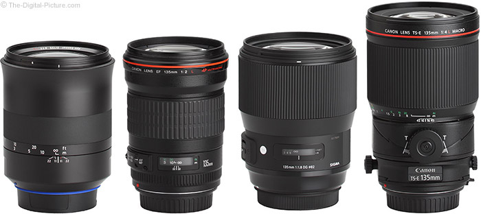 Canon TS-E 135mm f/4L Tilt-Shift Macro Lens Compared to Similar Lenses