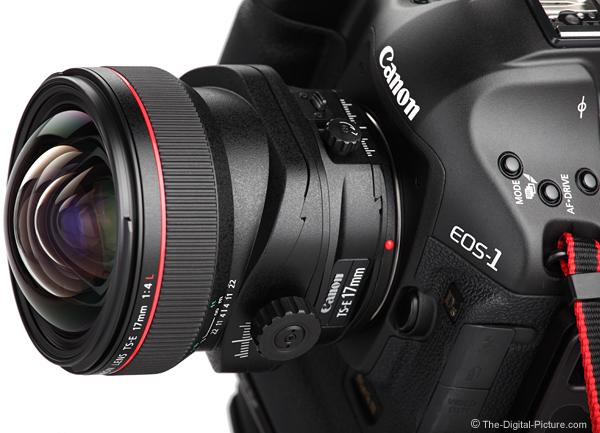 Canon TS-E 17mm f/4L Tilt-Shift Lens Mounted on Camera