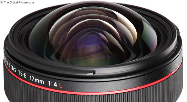 Canon TS-E 17mm f/4L Tilt-Shift Lens - Objective Lens Close-up