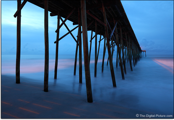 Canon TS-E 24mm f/3.5L II Tilt-Shift Lens Sample Photo - Kure Beach Fishing Pier, NC, USA