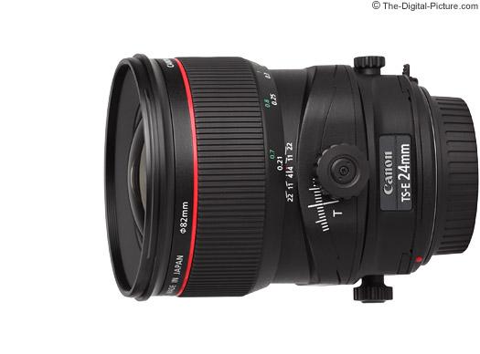 Canon TS-E 24mm f/3.5L II Tilt-Shift Lens Tilt, Shift and Rotate Movements
