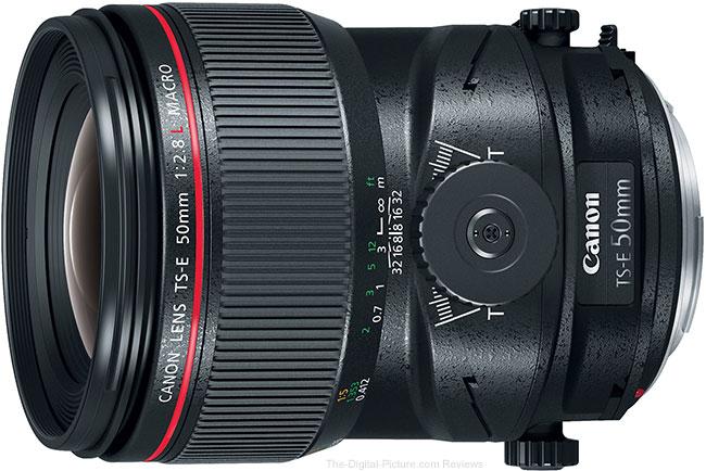Canon TS-E 50mm f/2.8L Tilt-Shift Macro Lens Angle View
