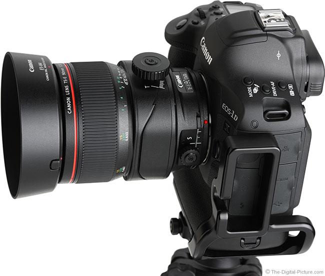 Canon TS-E 90mm f/2.8L Tilt-Shift Macro Lens Angle View with Hood