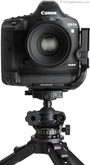 Canon TS-E 90mm f/2.8L Tilt-Shift Macro Lens Front View on Camera