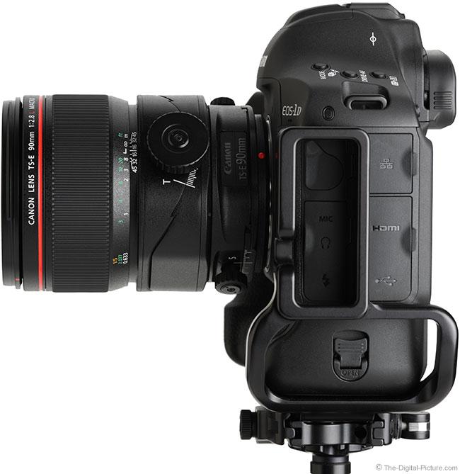 Canon TS-E 90mm f/2.8L Tilt-Shift Macro Lens Side View