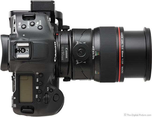 Canon TS-E 90mm f/2.8L Tilt-Shift Macro Lens Extended Top View