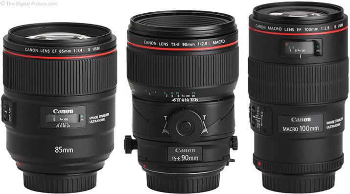 Canon TS-E 90mm f/2.8L Tilt-Shift Macro Lens Compared to Similar Lenses