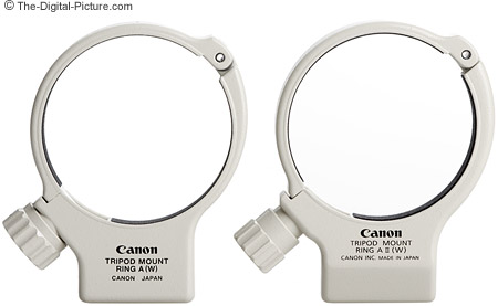Canon Tripod Mount Ring A and A II straight-on