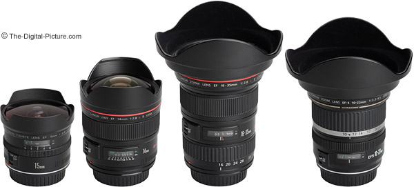Canon Ultra Wide Angle Lens Comparison - With Hoods