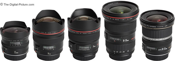 Canon Ultra Wide Angle Lens Comparison