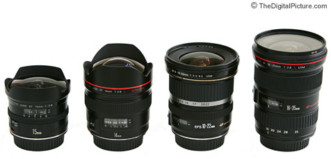 Canon Ultra Wide Lens Size Comparison