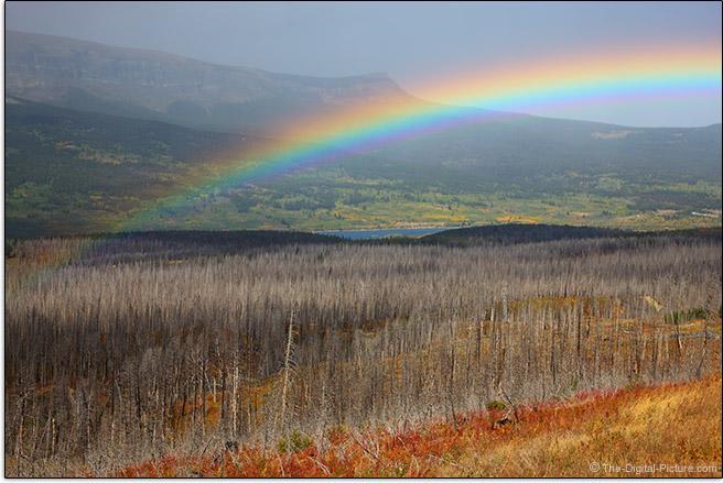 Rainbow with Circular Polarizer Filter