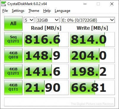 Crucial X6 Portable SSD CrystalDiskMark Report — 32GB