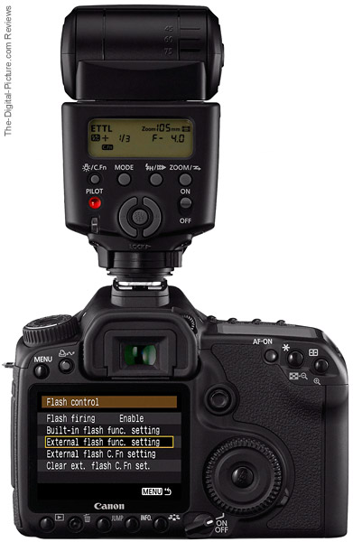Canon 430EX II Speedlite Flash on Canon EOS DSLR Camera