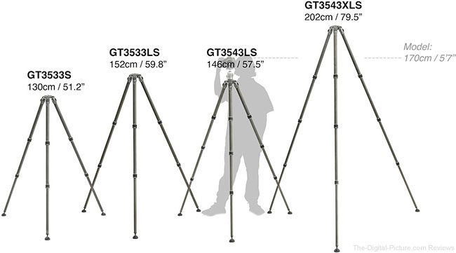 Gitzo 3-Series Systematic Tripod Height Comparison