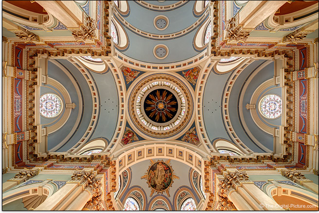 Irix 11mm f/4 Firefly Lens Another Church Ceiling Sample Picture