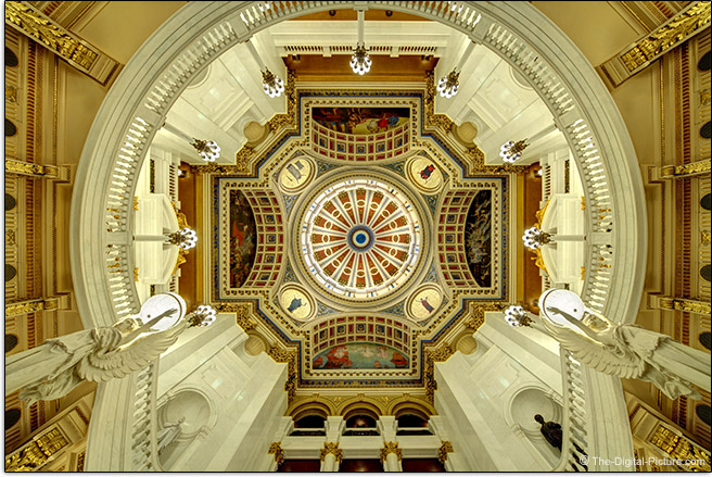 Irix 11mm f/4 Firefly Lens Capitol Rotunda Ceiling Sample Picture