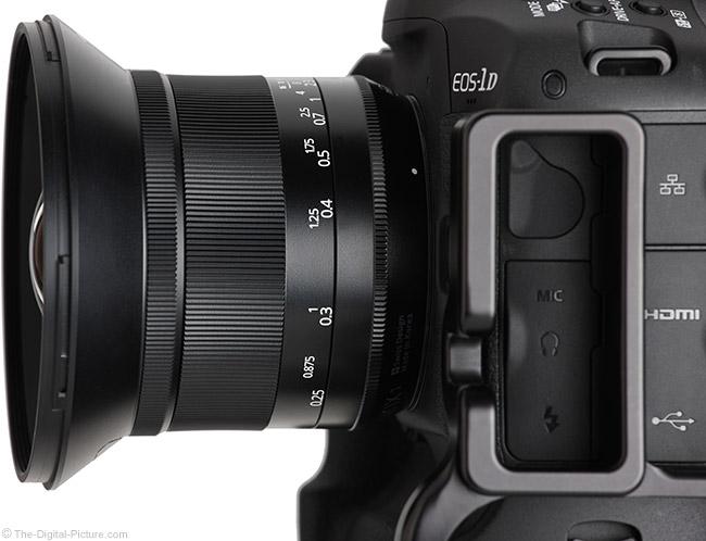Irix 15mm f/2.4 Blackstone Lens Side View