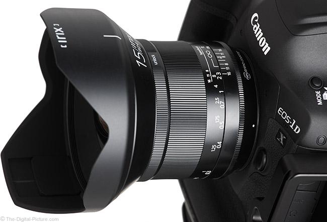 Irix 15mm f/2.4 Blackstone Lens Top Angle View