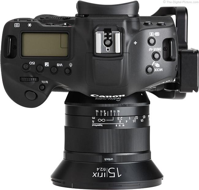 Irix 15mm f/2.4 Blackstone Lens Top View