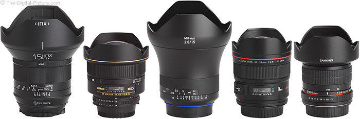 Irix 15mm f/2.4 Blackstone Lens Compared to Similar Lenses with Hoods