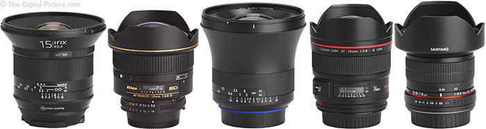 Irix 15mm f/2.4 Blackstone Lens Compared to Similar Lenses