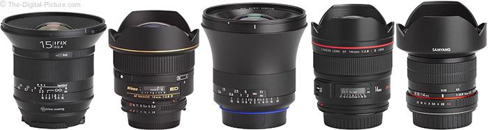 Irix 15mm f/2.4 Blackstone Lens Compared to Similar Lenses