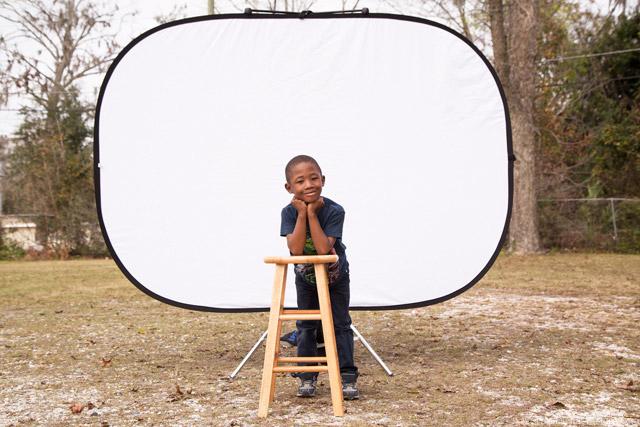 Lastolite Magnetic Background Support Portrait Setup