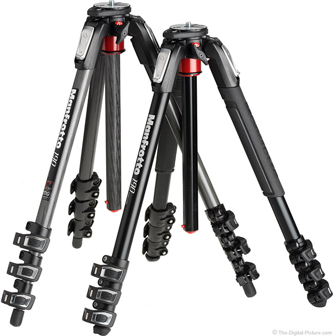 Manfrotto MT190XPRO4 Tripod Compared to MT190CXPRO4
