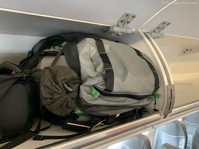 MindShift Gear BackLight Elite 45L in Overhead Storage