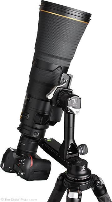 Nikon D850 and 600mm f/4E AF-S FL ED VR Lens on Gimbal Head