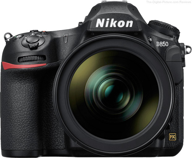 Nikon D850 Front with Lens