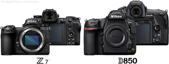 Nikon Z 7 Compared to D850