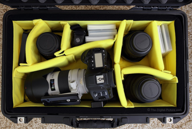 Pelican 1535 AIR Hard Case with Padded Dividers Loaded