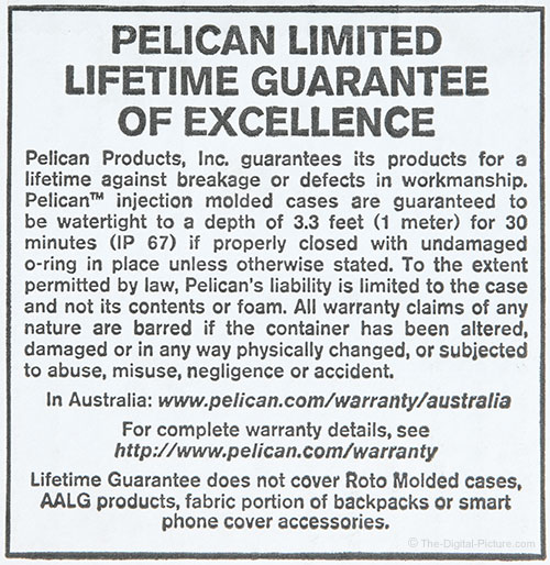 Pelican Limited Lifetime Guarantee