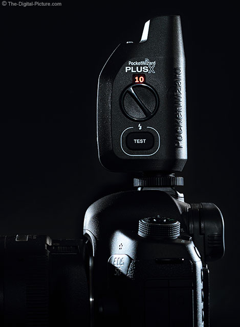 PocketWizard PlusX Transceiver on Canon EOS 5D Mark III