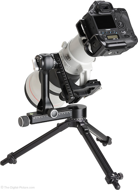 Really Right Stuff PG-02 Pano-Gimbal Head with 600mm Lens Full Gimbal-Mounted Back View