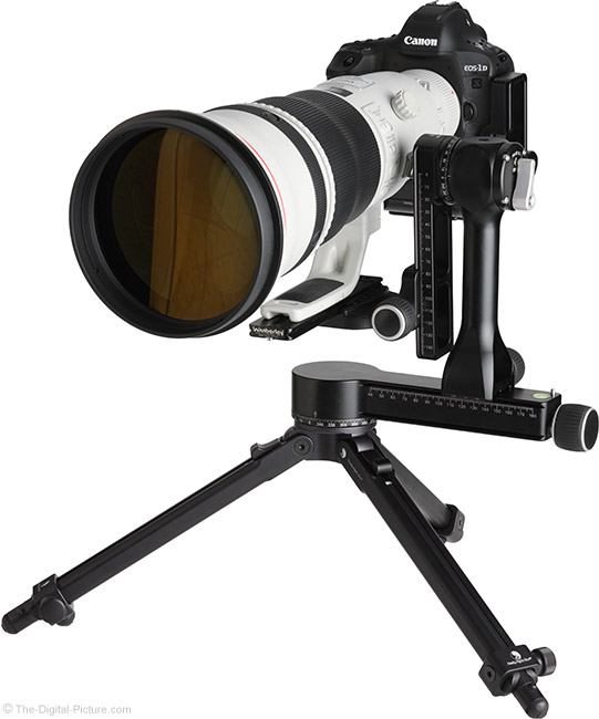 Really Right Stuff PG-02 Pano-Gimbal Head with 600mm Lens Full Gimbal-Mounted
