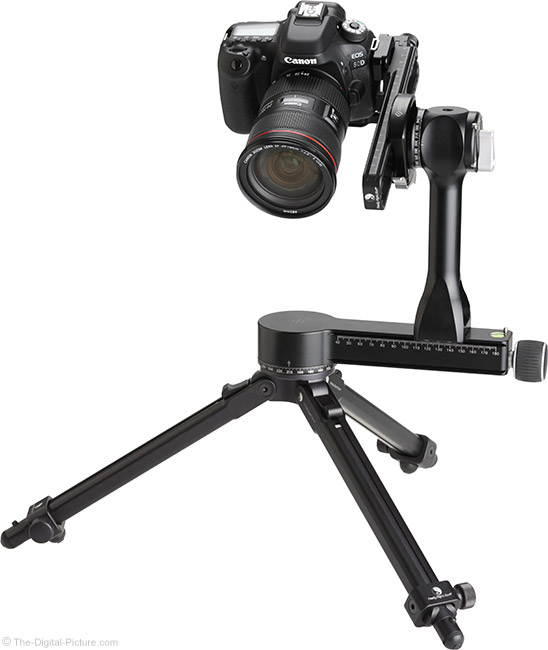 Really Right Stuff PG-02 Pano-Gimbal Head with Camera Side-Mounted Using MPR-CL II