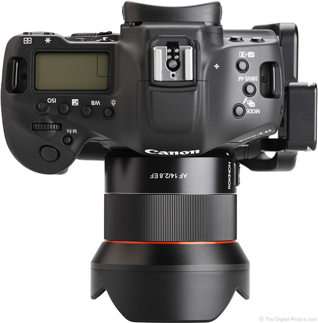 Rokinon AF 14mm f/2.8 Lens Top View