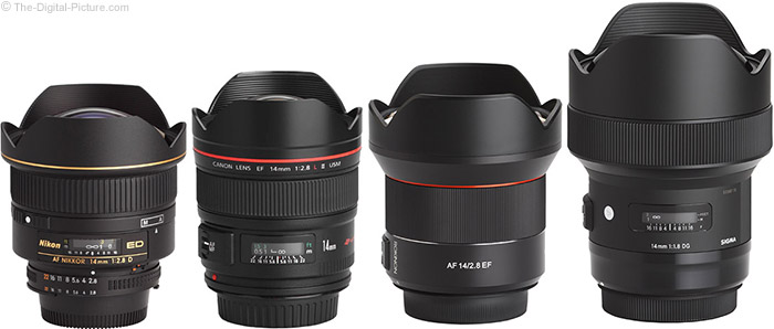 Rokinon AF 14mm f/2.8 Lens Compared to Similar Lenses