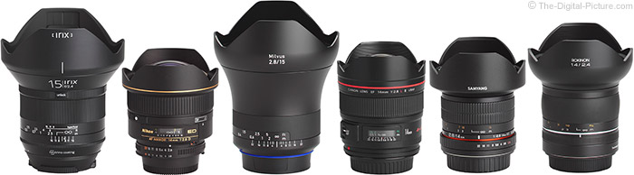 Rokinon SP 14mm f/2.4 Lens Compared to Similar Lenses